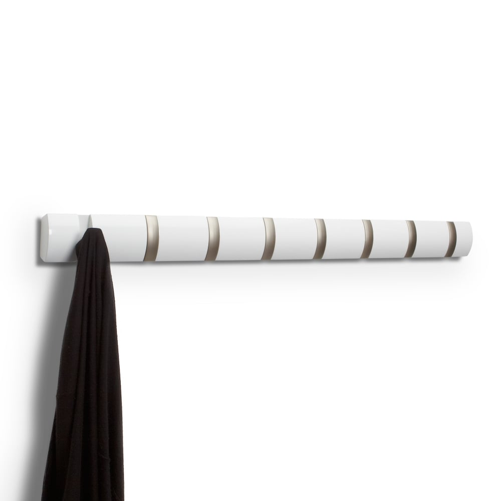 umbra flip wall hooks white black by design. Black Bedroom Furniture Sets. Home Design Ideas
