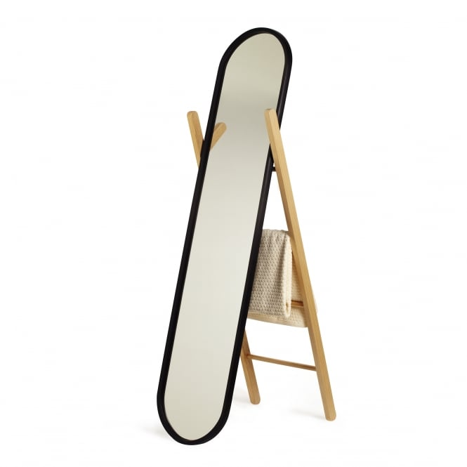 Umbra Hub Floor Mirror - Black/Natural