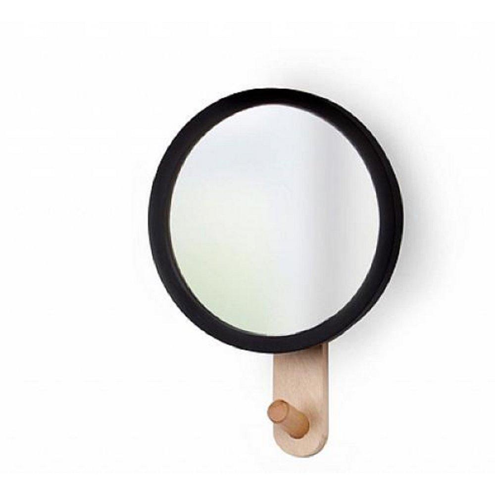 Umbra hub mirror hook black and beechwood black by design for Mirror hooks