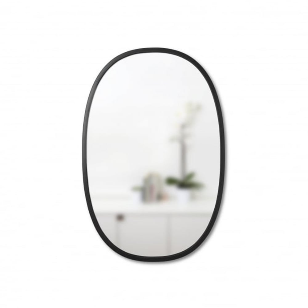 Umbra Hub Oval Mirror Black 36 X 24 Black By Design