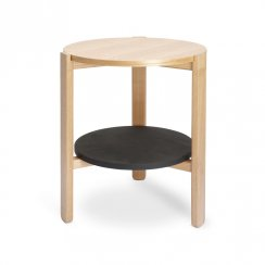 Hub Side Table - Black/Natural