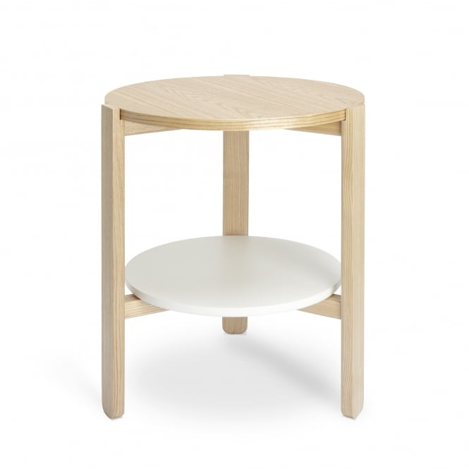 Umbra Hub Side Table - White/Natural