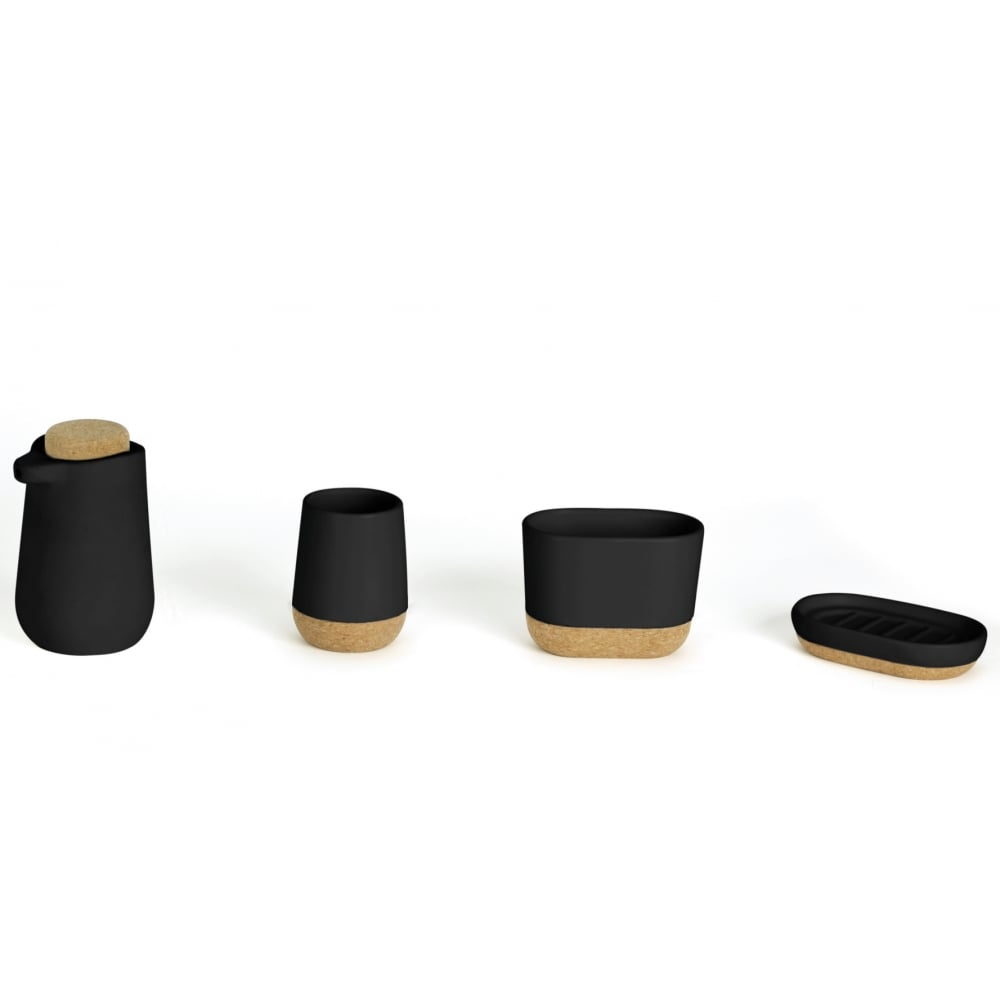 Umbra Kera Bathroom Collection | Black/Cork | Black by Design