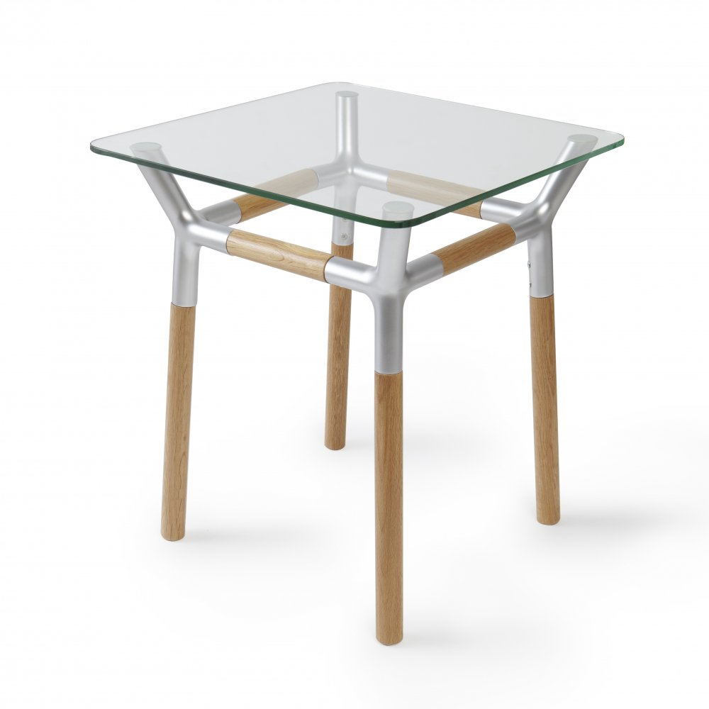 Konnect Side Table   Natural/Nickel
