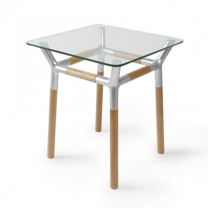 Umbra Konnect Side Table Natural Nickel Black By Design