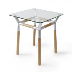 Konnect Side Table - Natural/Nickel