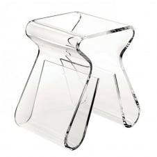 Magino Acrylic Stool/Side Table - Clear