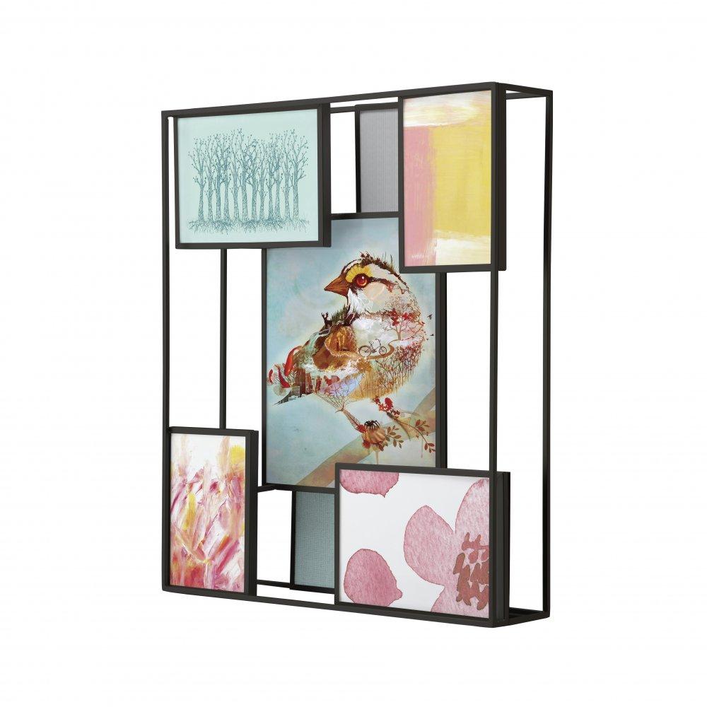 umbra multi matrix wall mounted photo frame available from black  - matrix multi wall frame  black