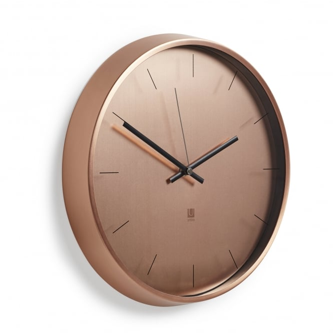 Umbra Meta Wall Clock - Copper