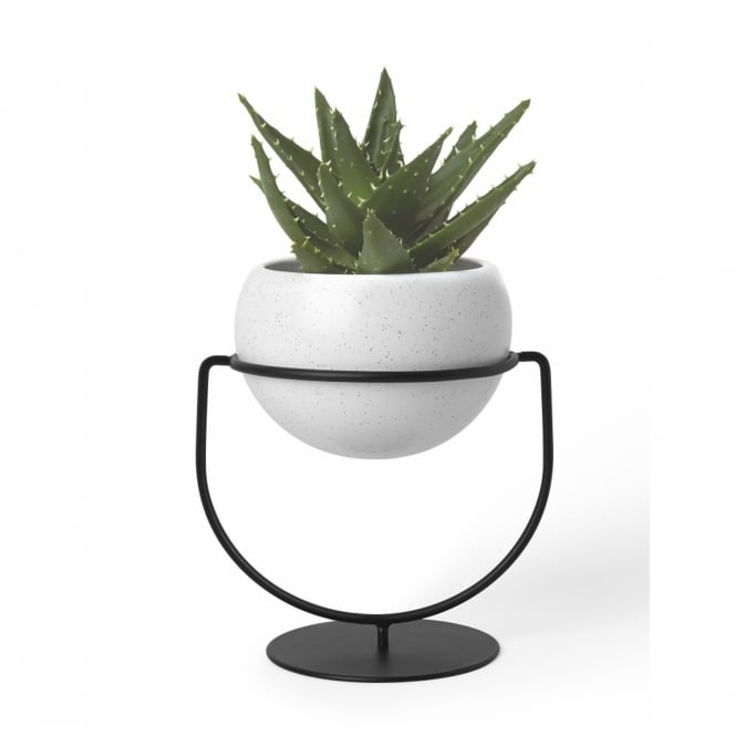 Umbra Nesta Table/Hanging Planter with Ceramic Pot