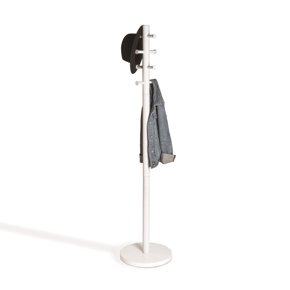 umbra pillar coat stand  white  black by design - pillar coat rack  white wood