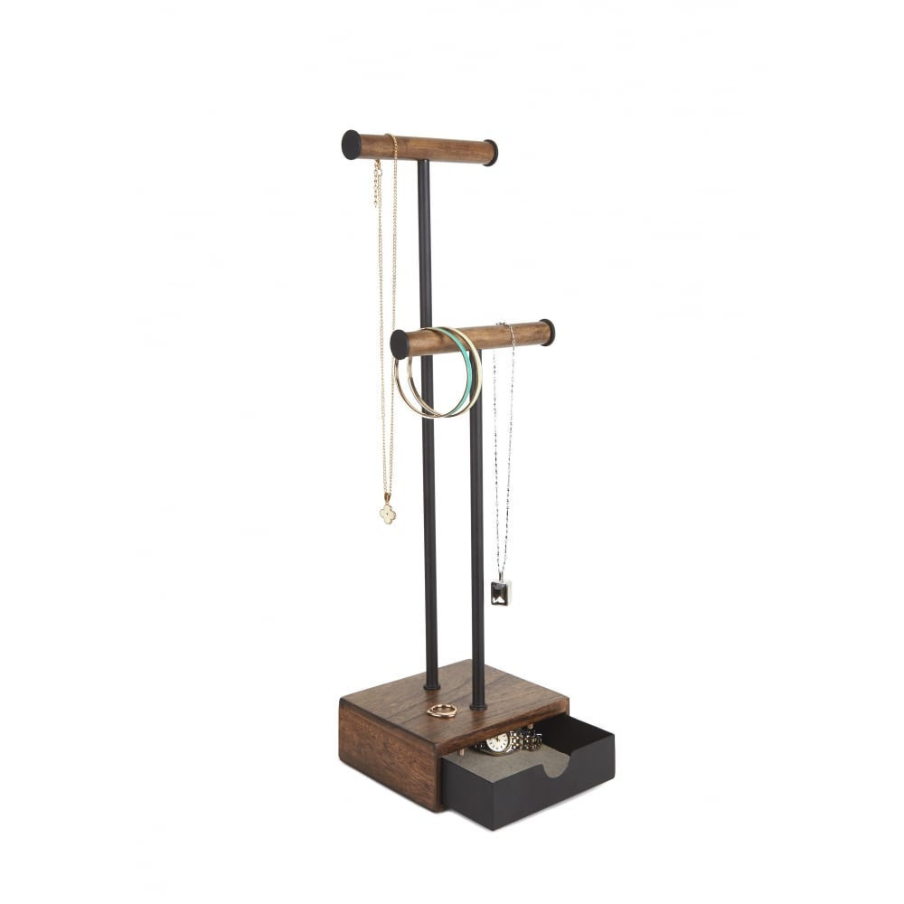 Jewellery Stand Designs : Umbra pillar jewellery stand in black and walnut