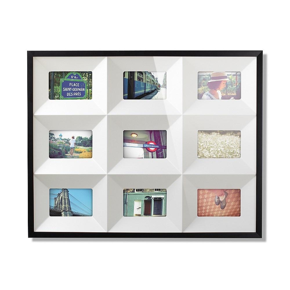 Umbra Black Nine Quadrant Multi Wall Photo Frame