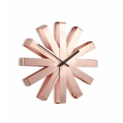 Ribbon Wall Clock - Copper