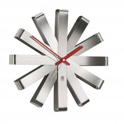 Ribbon Wall Clock - Steel