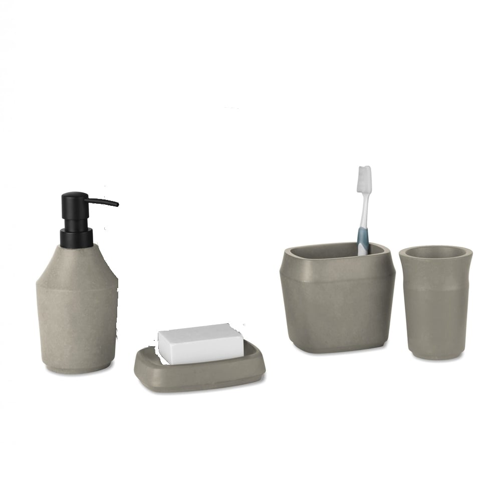 Umbra roca bathroom collection concrete black by design for C bhogilal bathroom accessories