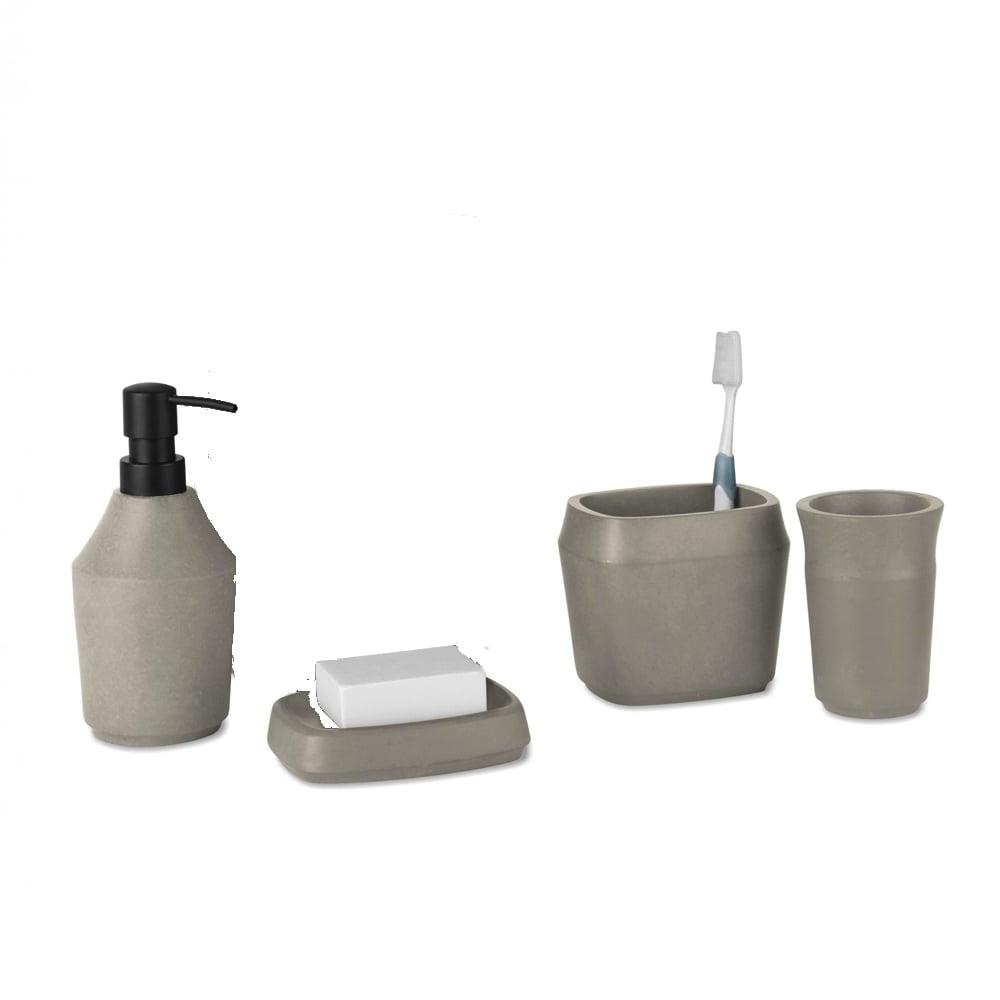Umbra Roca Bathroom Collection Concrete Black By Design