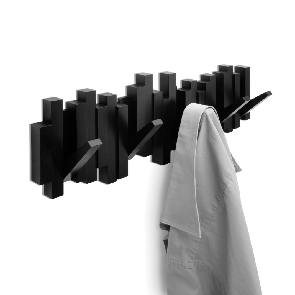 umbra sticks multi hook wall hooks available at black by. Black Bedroom Furniture Sets. Home Design Ideas