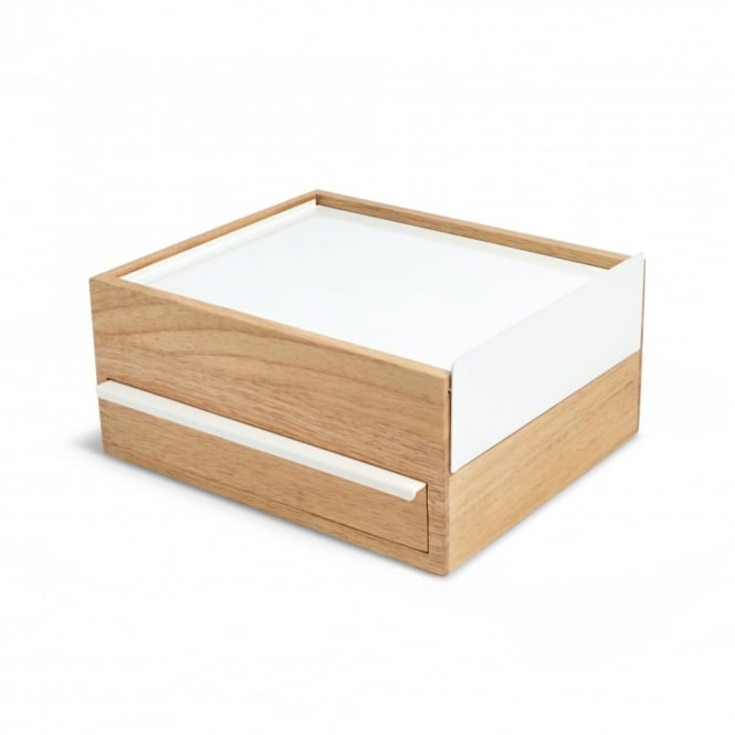 Umbra Stowit Jewellery Box - White/Natural