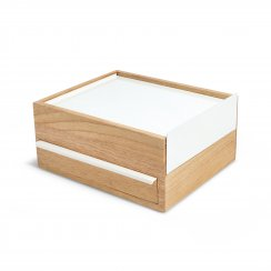 Stowit Jewellery Box - White/Natural