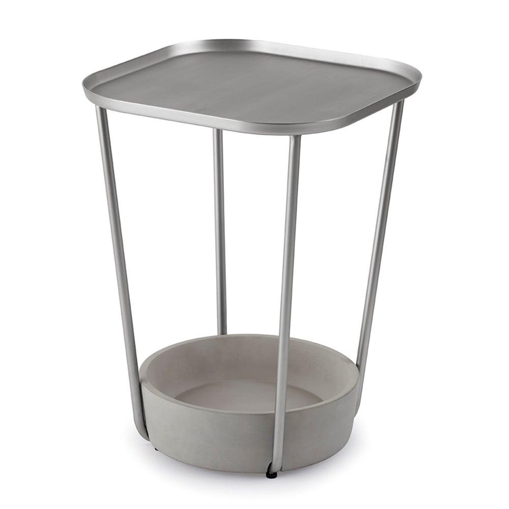 Umbra Tavalo Side Table Concrete Nickel Black By Design