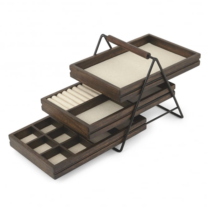 Umbra Terrace Jewellery Tray - Black/Walnut