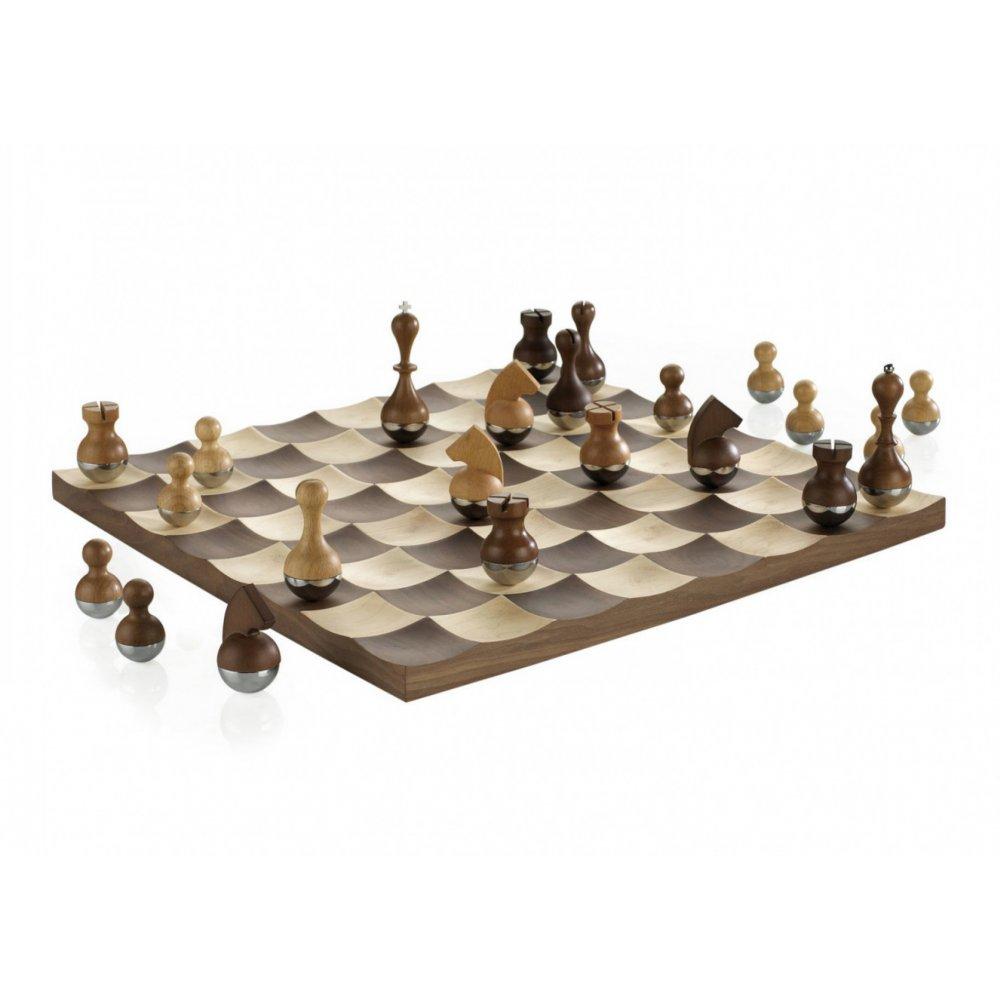 umbra buddy chess set natural black by design