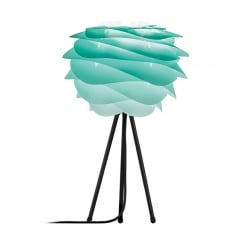 Carmina Tripod Table Lamp - Turquoise Carmina Mini/Black Tripod