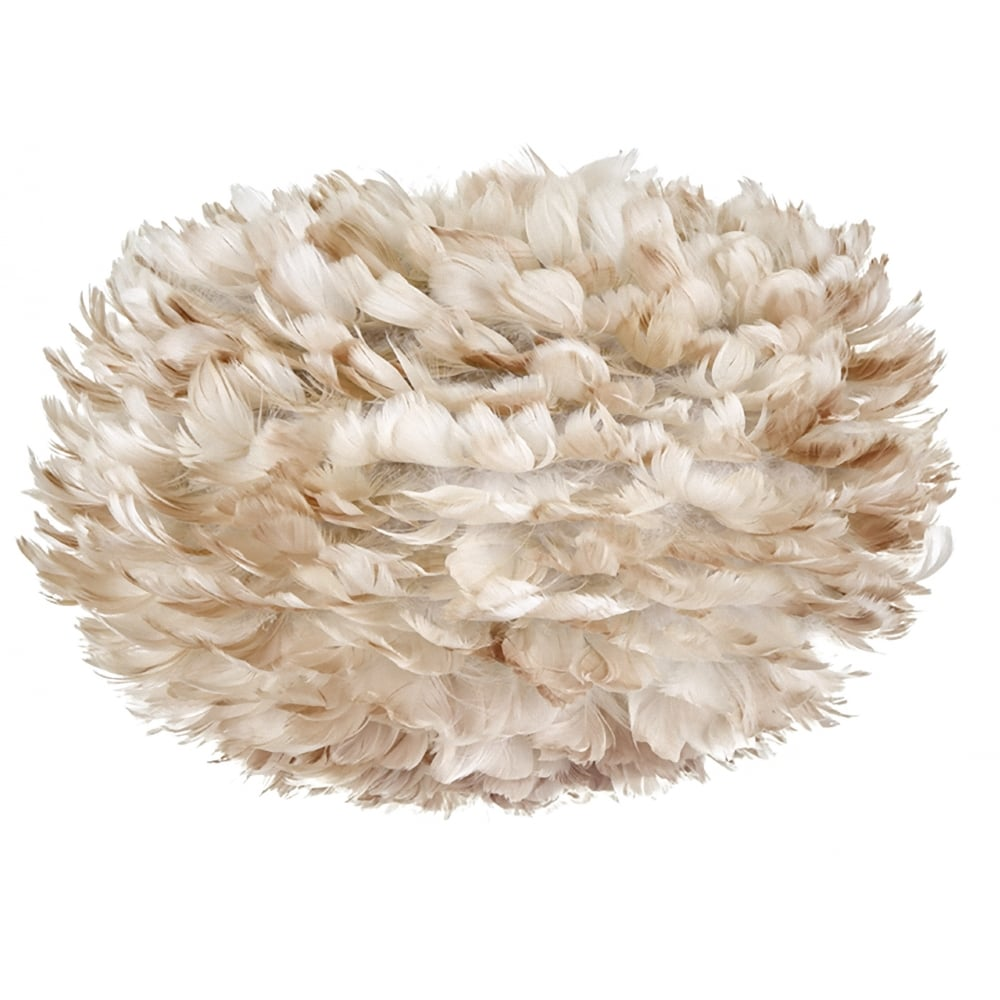 Vita eos feather lamp shade light brown black by design eos feather pendant shade light brown aloadofball Image collections