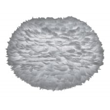Eos Feather Pendant Shade - Light Grey - Large - 65cm