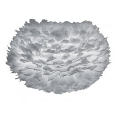 Eos Feather Pendant Shade - Light Grey - Medium - 45cm