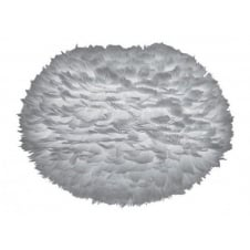 Eos Feather Pendant Shade - Light Grey - XL - 75cm