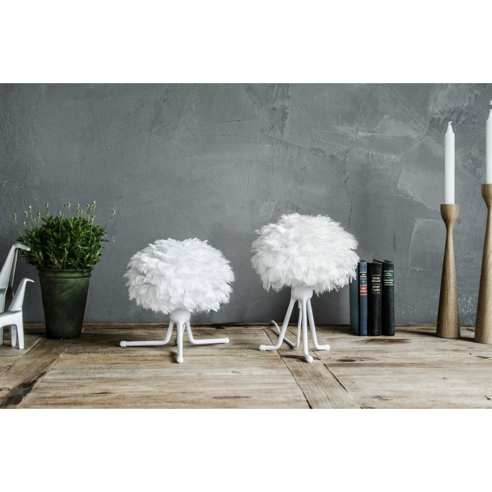 Vita eos feather lamp shade white black by design eos feather pendant shade white aloadofball Choice Image
