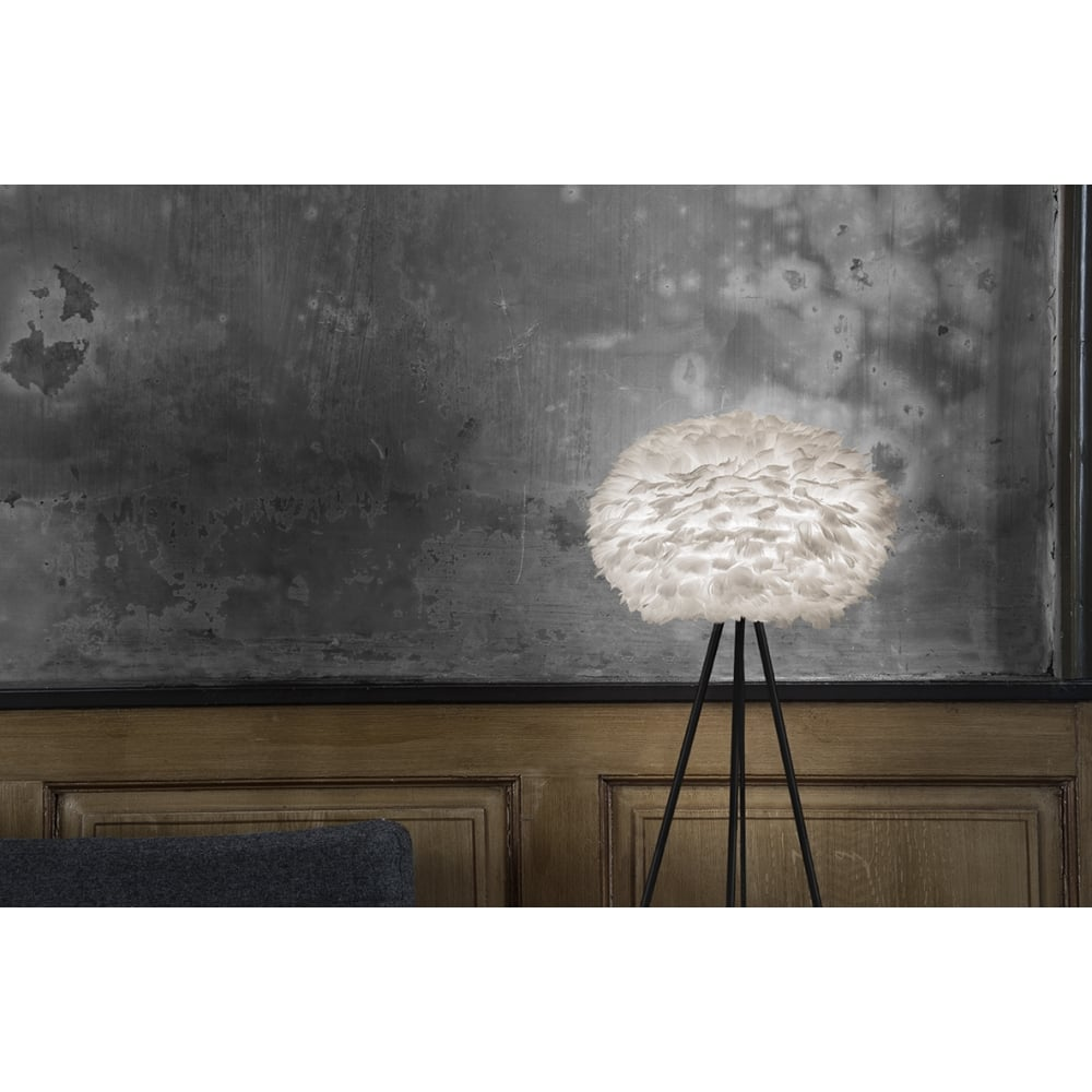 Vita eos feather lamp shade white black by design eos feather pendant shade white aloadofball Gallery