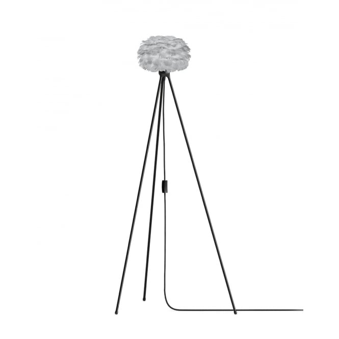 Vita Copenhagen Eos Tripod Floor Lamp - Light Grey Feather Eos Micro/Black Tripod