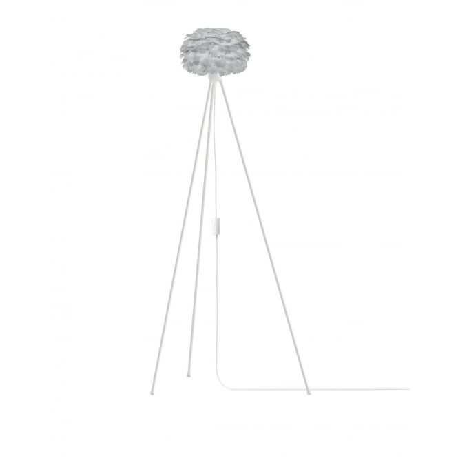 Vita Copenhagen Eos Tripod Floor Lamp - Light Grey Feather Eos Micro/White Tripod
