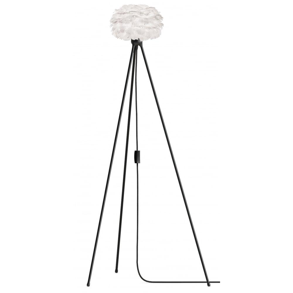 Vita white feather eos microblack tripod floor lamp black by design eos tripod floor lamp white feather eos microblack tripod aloadofball Image collections