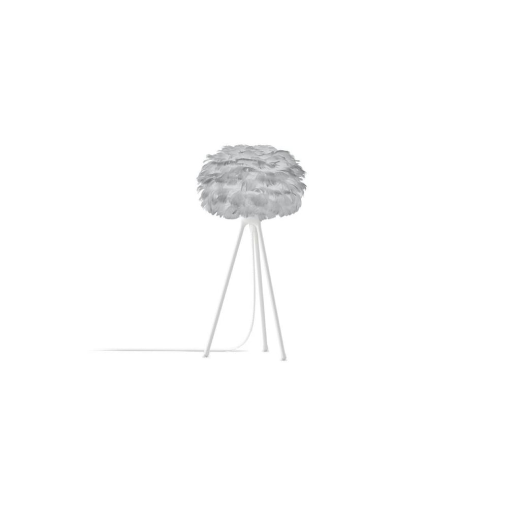 Eos Tripod Table Lamp   Light Grey Feather Eos Micro/White Tripod