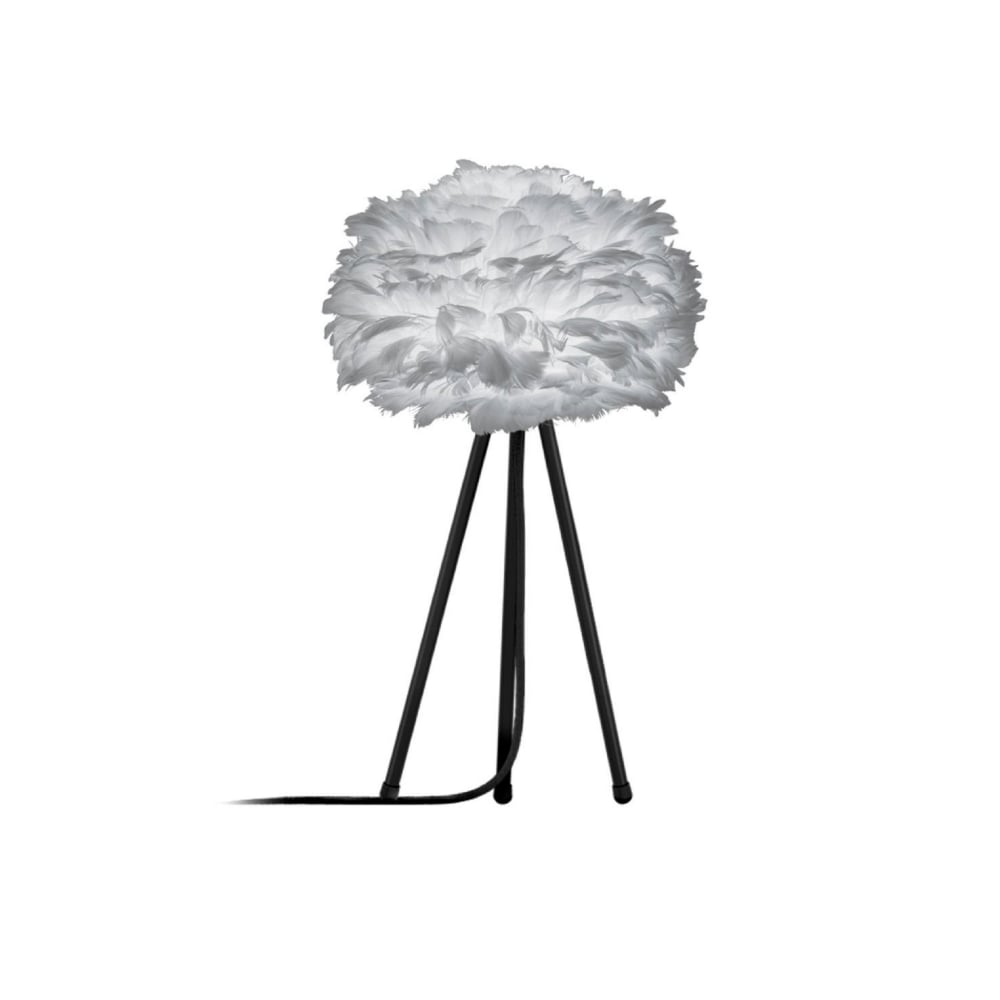 Vita light grey feather eos miniblack tripod table lamp black by eos tripod table lamp light grey feather eos miniblack tripod aloadofball Images