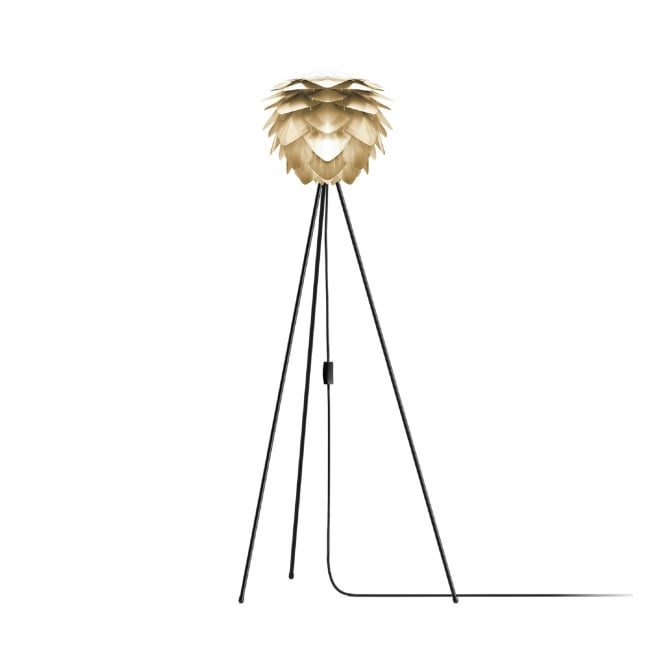 Vita Copenhagen Silvia Tripod Floor Lamp - Brushed Brass Silvia Mini/Black Tripod