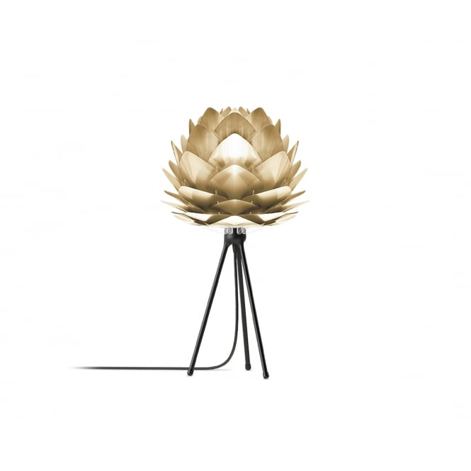 Vita Copenhagen Silvia Tripod Table Lamp - Brushed Brass Silvia Mini/Black Tripod