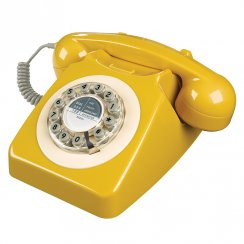 746 Retro Telephone - English Mustard