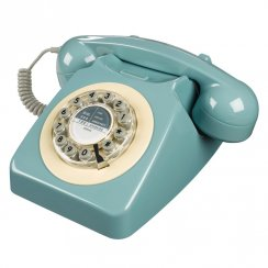 746 Retro Telephone - French Blue