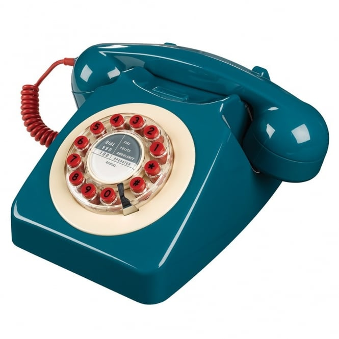 Wild & Wolf 746 Retro Telephone - Petrol Blue