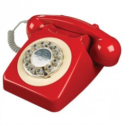 746 Retro Telephone - Red