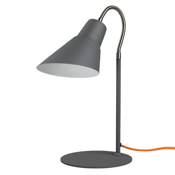 Wild & Wolf Wild Wood Gooseneck Table/Desk Lamp - Concrete Grey