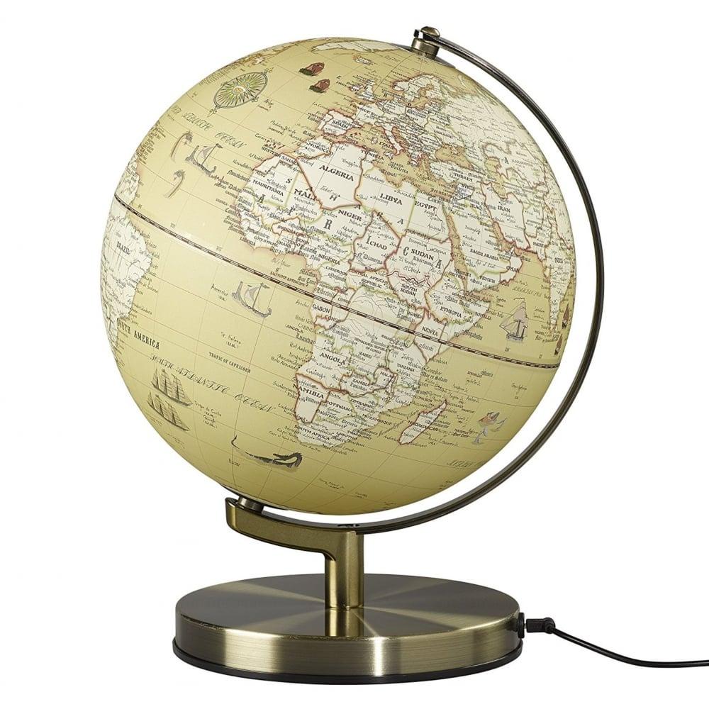 Map Of Uk On Globe.Wild Wolf Wild Globe Light Vintage Map Black By Design