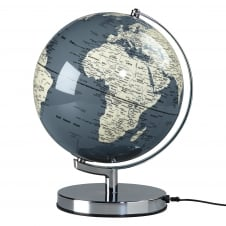 Wild Wood Illuminated LED Globe Light - Concrete Grey