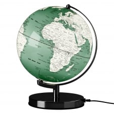 Wild Wood Illuminated LED Globe Light - Swedish Green