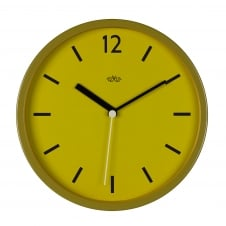 Wild Wood Retro Style Wall Clock 30cm - English Mustard